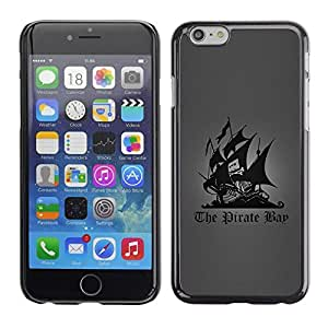 LECELL -- Funda protectora / Cubierta / Piel For Apple iPhone 6 Plus 5.5 -- The Pirate Bay --