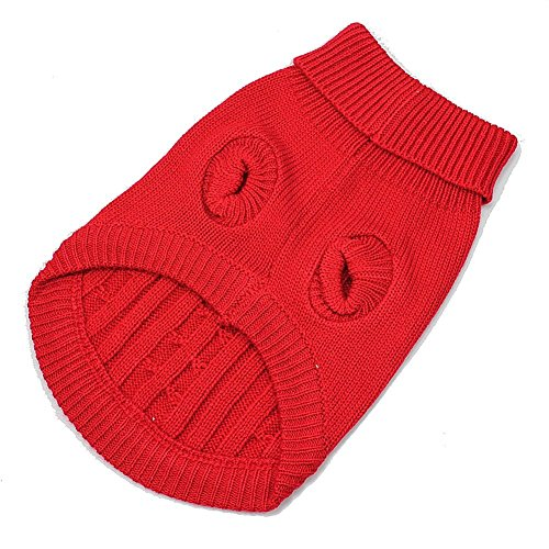 DierCosy Red Cute Pet Puppy Cat Dog Warm Jumper Sweater Knitwear Coat Apparel Clothes S Review