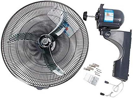 QFFL Fan de la Pared - Ventilador Industrial de la Cabeza del Colgante de Pared de 18 Pulgadas Todo el Volumen de Aire Grande Mudo de Aluminio de Shell Ventilador: Amazon.es: Hogar