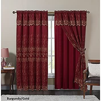 Victorian drapes home design for Red and gold drapes
