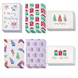 Share the joys of the yuletide season with your friends, acquaintances, and loved ones. This assorted pack of 48 Christmas holiday greeting cards will prepare you for all your card-sending needs! Cut the hassle of rushing to the store and ove...