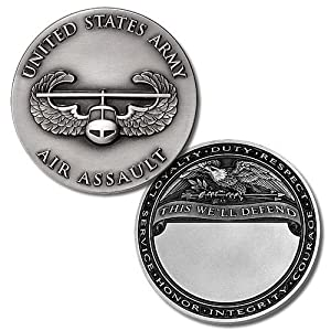 U.S. Army Air Assault Engravable Challenge Coin