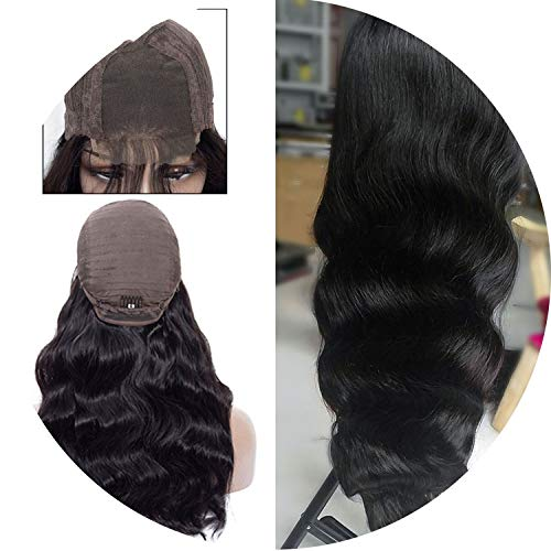 Get-in Lace Front Human Hair Wigs 4x4 Closure Lace Wigs Remy Brazilian Hair Body Wave Wig Lace Front Wig with Baby Hair,Natural Color,12inches