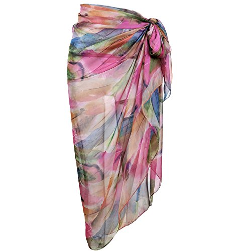 994cfe9b4bcf7 Ayliss Womens Swimwear Chiffon Cover up Beach Sarong Pareo Bikini Swimsuit  Wrap (One Size