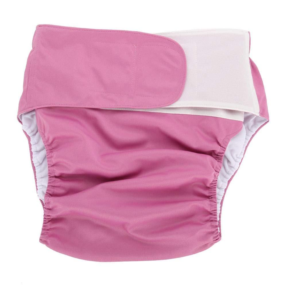 Noir Grand Adulte Couche Culottes dincontinence Adultes Couche ajustable en Tissu Lavable r/éutilisable Soins dincontinence pour Vieillards Gamme de taille