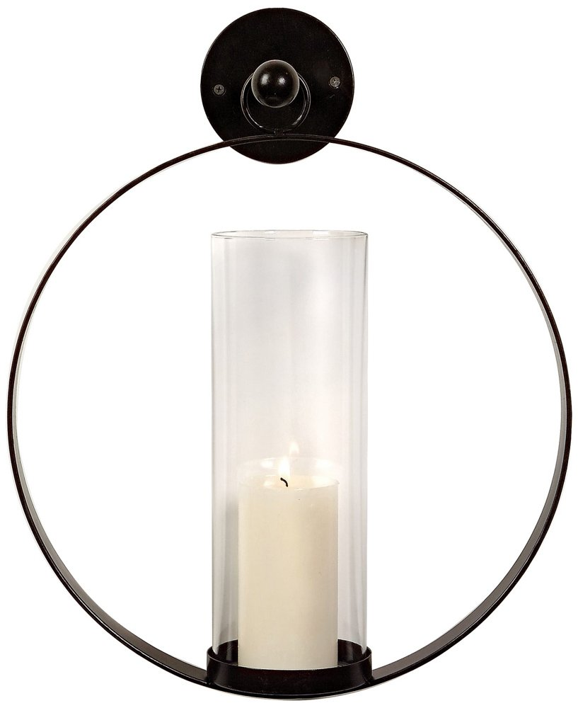 Amazon.com: IMAX 56085 Occento Round Hurricane Wall Sconce   Candle Pillar  For Home, Hotel, Reception Areas. Wall Mounting Candle Stand.