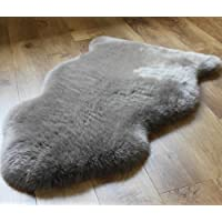 A-Star(Tm)) Sheepskin Rug Single - Sheepskin Fur 2 x 3 (Grey)