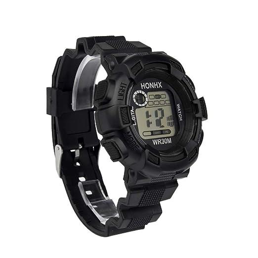BBestseller Reloj Electrónico Impermeable de Multifunciones Pulsera de Moda Podómetro para Hombre,Relojes Hombre Deportivos