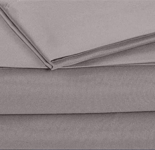 Amazon.com: Juego de Sabanas Grises Sabana Forro Protector de Colchon Color Gris Oscuro Funda para Almohada Paquete Set Microfibra de Poliester Suave ...
