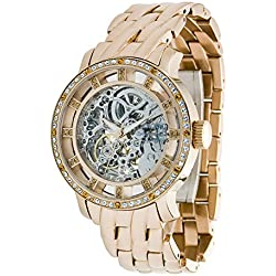 Moog Paris - Chameleon - Women / Men Automatic Watch with Skeleton dial, rose gold strap in stainless steel - - Made in France - M44694-003
