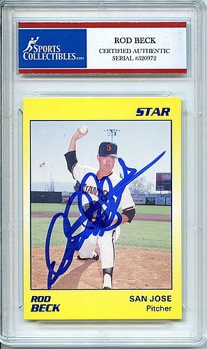 Rod Beck 1989 Star Rookie San Francisco Giants Autographed Trading Card - Certified Authentic