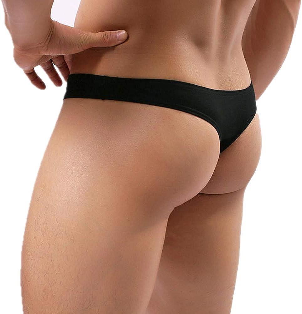 CSMARTE Mens Underwear Soft Modal Thong T-Back Brief