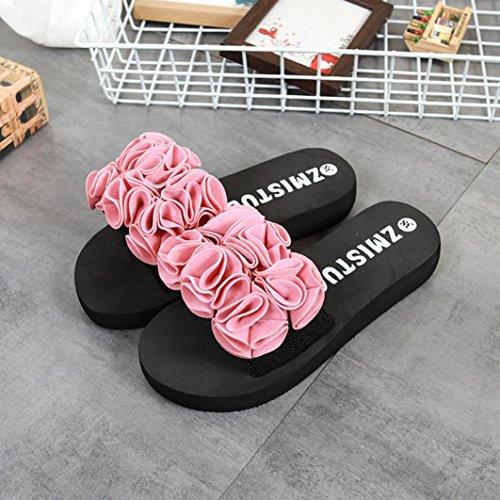 hunpta Sandalias Deportivas de Goma EVA Para Mujer Rosa