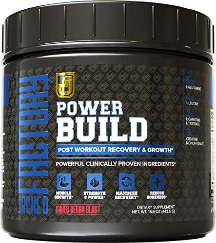 POWERBUILD clínicamente dosis Post entrenamiento recuperación y construcción muscular suplemento - impulsar el crecimiento muscular, recuperación y resistencia - creatina, glutamina y 5 más potentes ingredientes - explosión de bayas mixtas, 483,6 g
