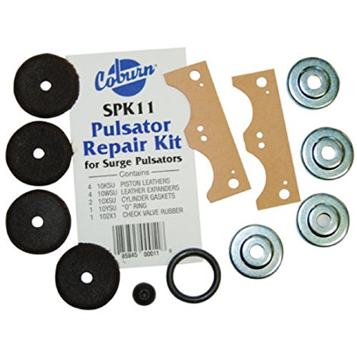 - Coburn Original Complete Repair Kit for Surge Vacuum Pulsator - includes 4 Expanders, 4 Leathers, 2 Gaskets, 1 O-ring and 1 Check Valve Rubber Tip