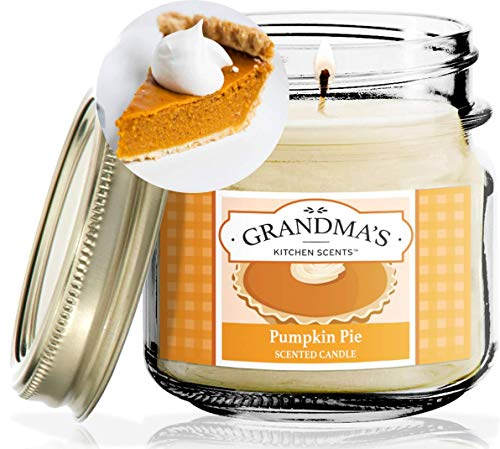 Pumpkin Pie Spice Scented Soy Candles | 8 oz Jar | Hand Made in The USA | Delicious Scent | Extra Clean Burning and Long-Lasting Soy Candle