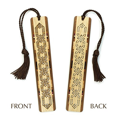 Celtic Kells Knot (Celtic Knot Design Cut out- Engraved Wooden Bookmark with)