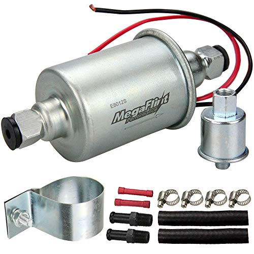 - Megaflint E8012S Universal Electric Fuel Pump Low Pressure 5-9 PSI 12V w/Installation Kit