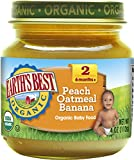 Earth's Best Peach Oatmeal Banana, 4 oz