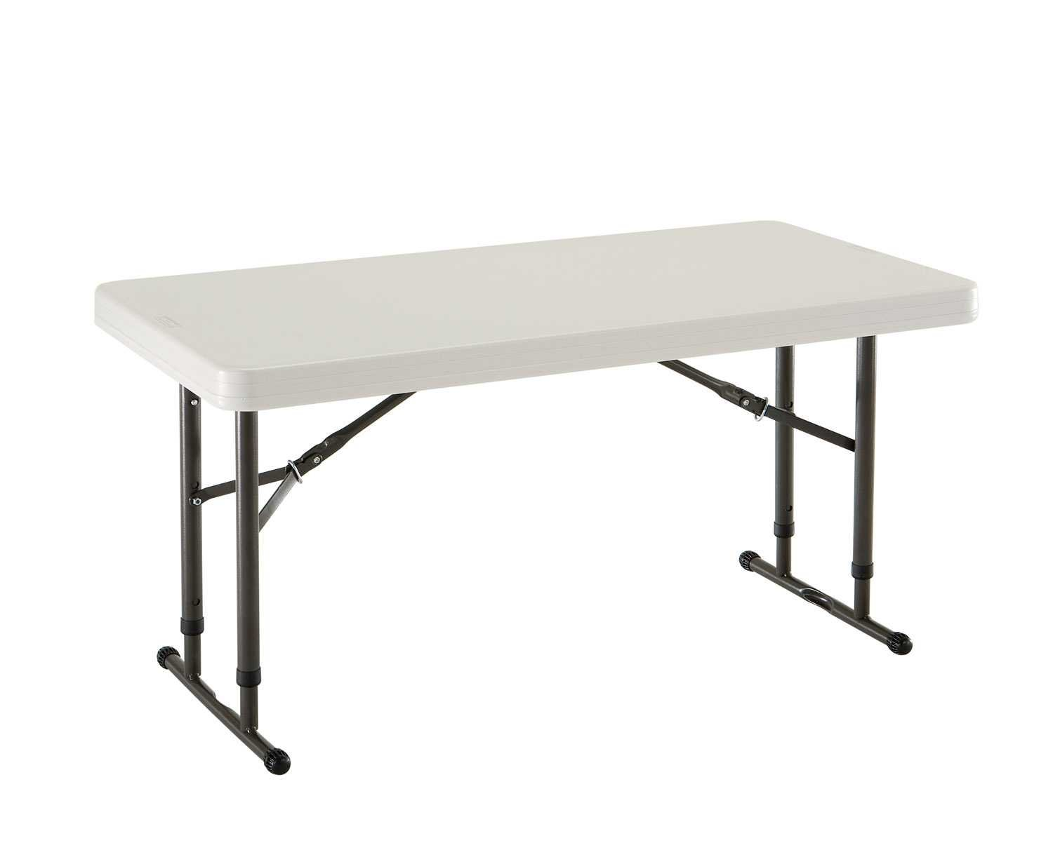 Amazon.com: Lifetime 80161 4 Foot Commercial Adjustable Height Folding Table,  Almond Tabletop With Bronze Frame: Kitchen U0026 Dining