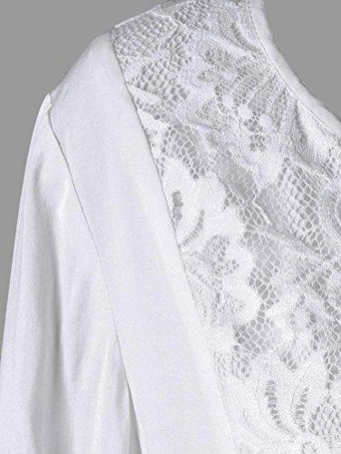 Vtements Printemps Dentelle Shirt Top Tee Haut Blanc Femme 2018 Chic Longue D't Chemisier Loose Grande Taille Marque Fille Shirt Longra Original Vintage t Femme Mode Femme Manche T Top 5FxPq6