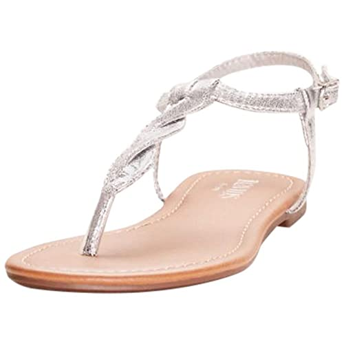 d7c54e19b David s Bridal Twisted T-Strap Sandals Style Kendall