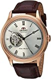 ORIENT Classic Automatic with Hand Winding Open Heart Dome Crystal Roman Rose Gold