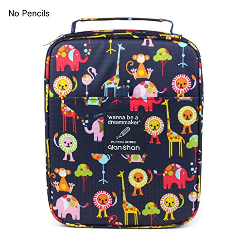 Universal Pencil Bag organizer for 100 120 132 144 150 colored Pencils slots holder pen case School Stationery PencilCase Drawing Painting Storage shell Pouch pencil box qianshan (not pencils) animal - Kids Artwork Storage Box