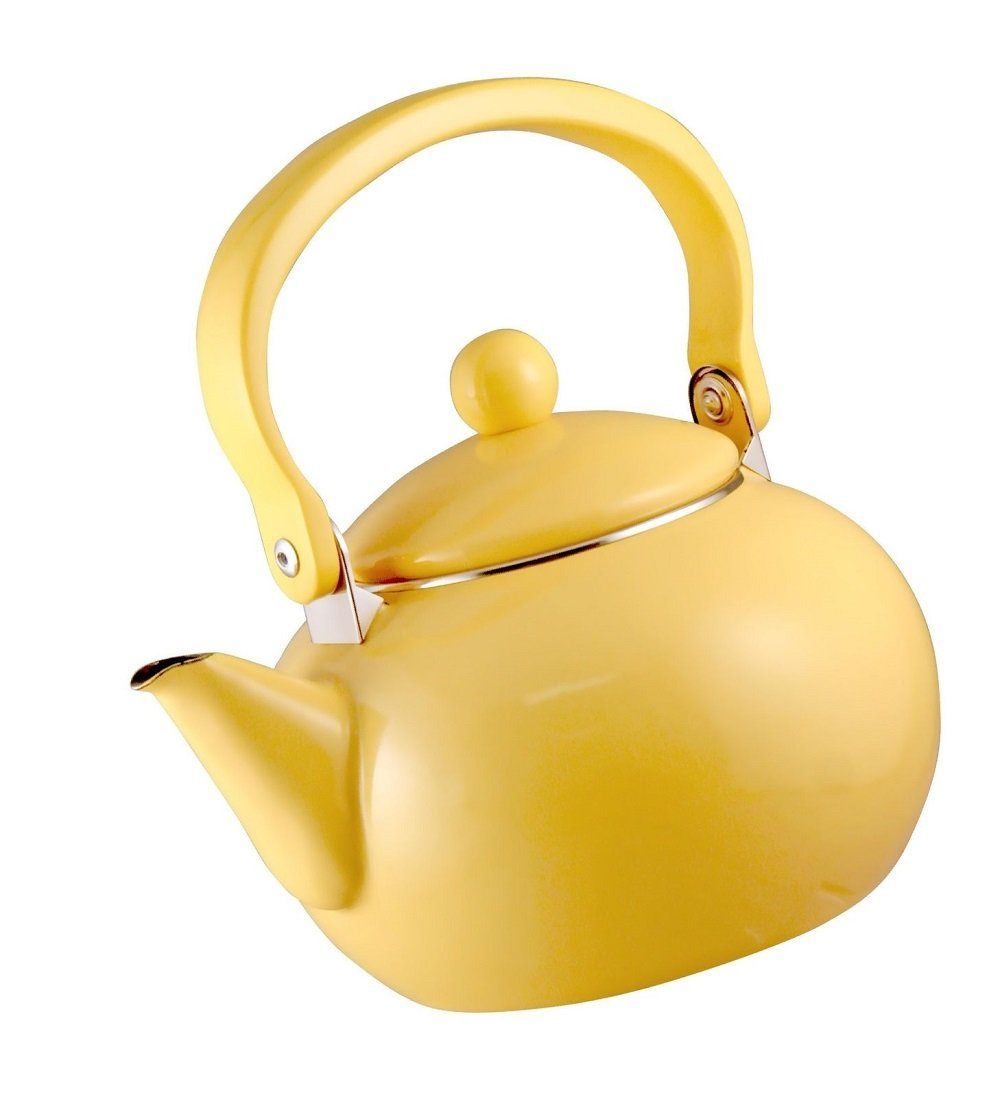 Green_Kitchen Calypso Basics by Reston Lloyd 2-Quart Enamel-on-Steel Tea Kettle, Lemon Yellow by Green_Kitchen