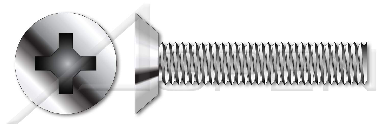 Flat Phillips Drive #8-32 X 5//16 AISI 304 Stainless Steel 150 pcs Machine Screws 18-8