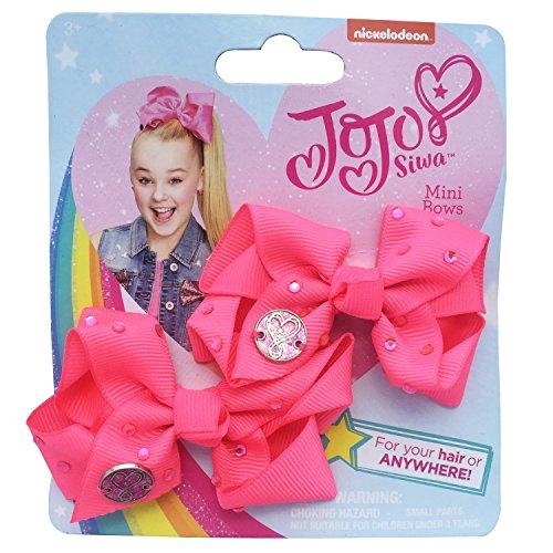 Pink and Silver JoJo Bows JoJo Siwa Pack of Two 8 cm Mini Signature Bows