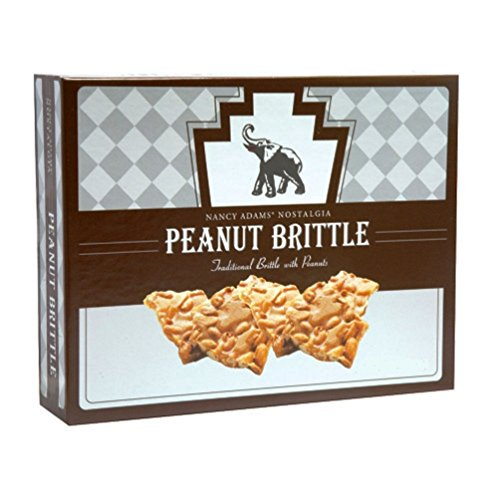 Gourmet Peanut Brittle - Nancy Adams Nostalgia Peanut Brittle Gift Box, 10 Ounces