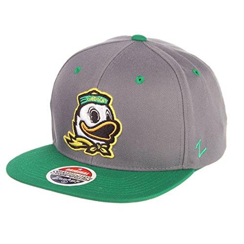 Zephyr NCAA Oregon Ducks Men's Z11 Static Snapback Hat, Adjustable, Black/Team Color