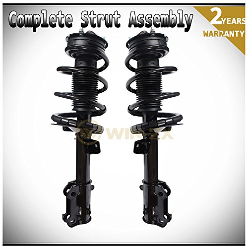 WIN-2X New 2pcs Front Left & Right Side Quick Complete Suspension Shock Struts & Coil Springs Assembly Fit 05-10 Ford Mustang Base/GT/Bullitt/Lujo ()