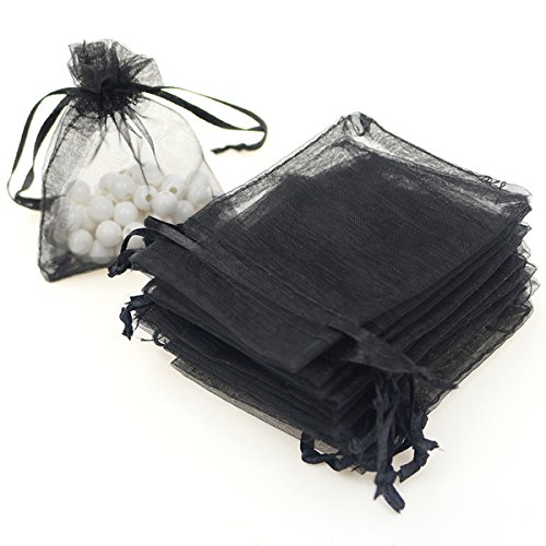 AKStore 100PCS 4×6″ (10x15cm) Drawstring Organza Jewelry Favor Pouches Wedding Party Festival Gift Bags Candy Bags