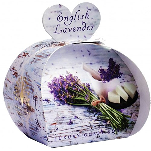 The English Soap Company Luxury Guest Soap English Lavender 3 x (Luxury Guest Soaps)