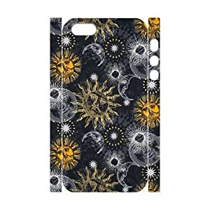 Sun Moon Pattern Brand New 3D Cover Case for Iphone 5,5S,diy case cover ygtg543917