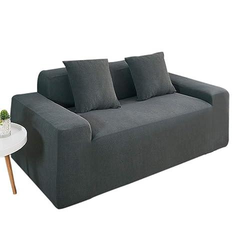 KRUIHAN Funda de Sofá Cojín Elástica - Protector para Muebles para Silla Anti-Deslizante del Cubierta Universal (1 Plazas,Gris Oscuro)