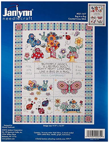 Janlynn 14 Count Autumn Montage Counted Cross Stitch Kit 11-Inch x 14-Inch