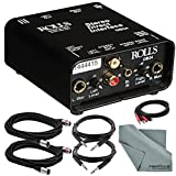 Rolls DB24 Stereo Direct Interface and Accessory Bundle w/ Xpix XLR & 1/4'' TRS Cables + Fibertique Cloth + 2RCA Male Cable