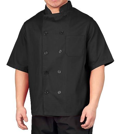 Amazon.com: Lightweight Short Sleeve Chef Coat: Clothing