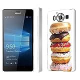 Microsoft Lumia 950 Case, [NakedShield] [Matte] Ultra-Slim Jacket Cover Case - [Donuts] for Microsoft Lumia 950