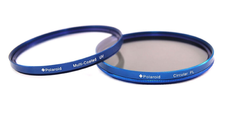 Polaroid Optics 67mm Multi-Coated Dual Filter Kit BLUE (MC UV, CPL)