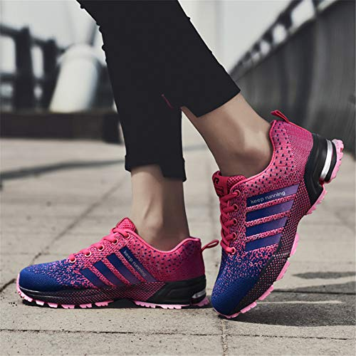 KUBUA Womens Running Shoes Trail Fashion Sneakers Tennis Sports Casual Walking Athletic Fitness Indoor and Outdoor Shoes for Women F Purple Women 5 M US/Men 4 M US by KUBUA (Image #7)