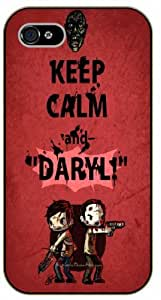 iPhone 5 / 5s Keep Calm and Daryl - black plastic case / Keep Calm, Motivation and Inspiration, dead, walking