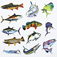 50Pcs Funny Fishing Decals Fish Stickers Walleye Largemouth Bass Decal for Truck Cars Boat Fishing Lake