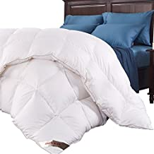 California King Down Comforter King Duvet Insert Cotton Comforter White Natural Goose Down Comforter King Down Duvet King Size Hypoallergenic Box Stitched Protects Luxurious Soild King