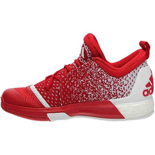 Adidas Performance Mens Sm In Campo Crazylight Boost 2 Scarpa Da Basket Scarlatta / Bianca / Scarlatta