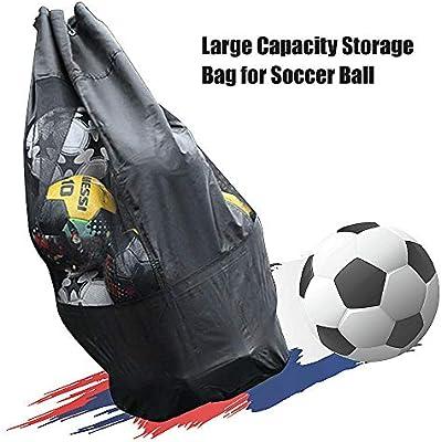 Festnight Gran Capacidad Transpirable Mash Drawstring Pack para balones de fútbol de fútbol Voleibol Baloncesto Equipo de Deportes al Aire Libre Bolsa: Amazon.es: Deportes y aire libre