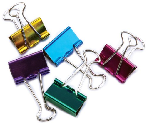 BAU29730 - Baumgartens Metallic Colored Binder - Binder Clips Baumgartens